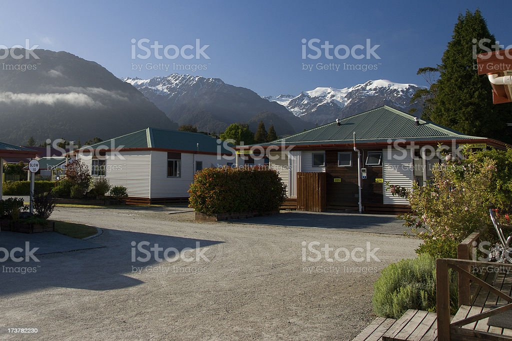 Mountain Cabins in New Zeland royalty-free stock photo