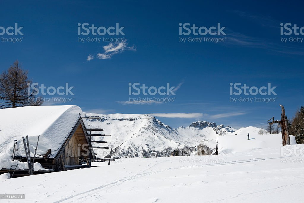 Mountain Cabins royalty-free stock photo