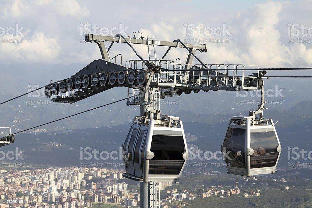 Mountain Cable Car stock photo