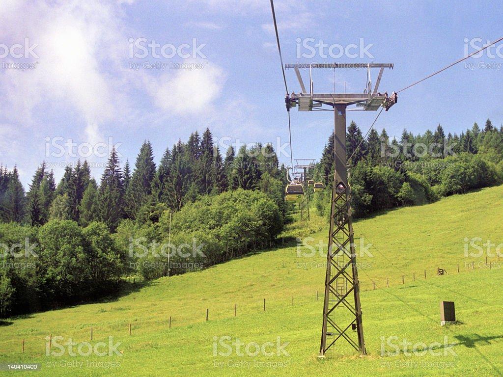 Mountain Cablecar royalty-free stock photo
