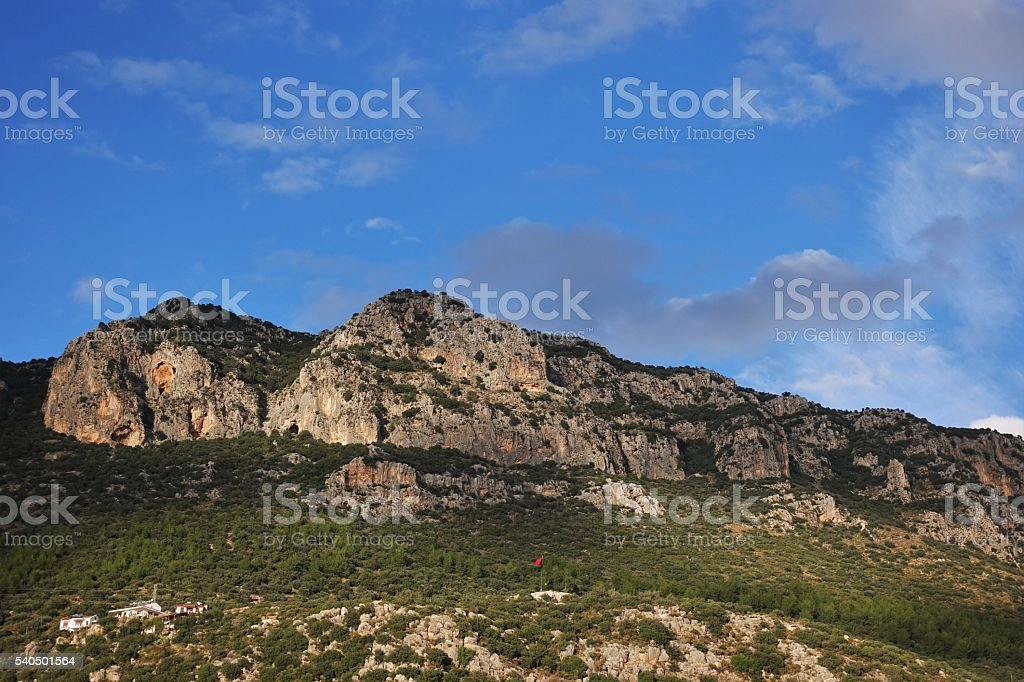 Mountain Called Sleeping Giant stock photo
