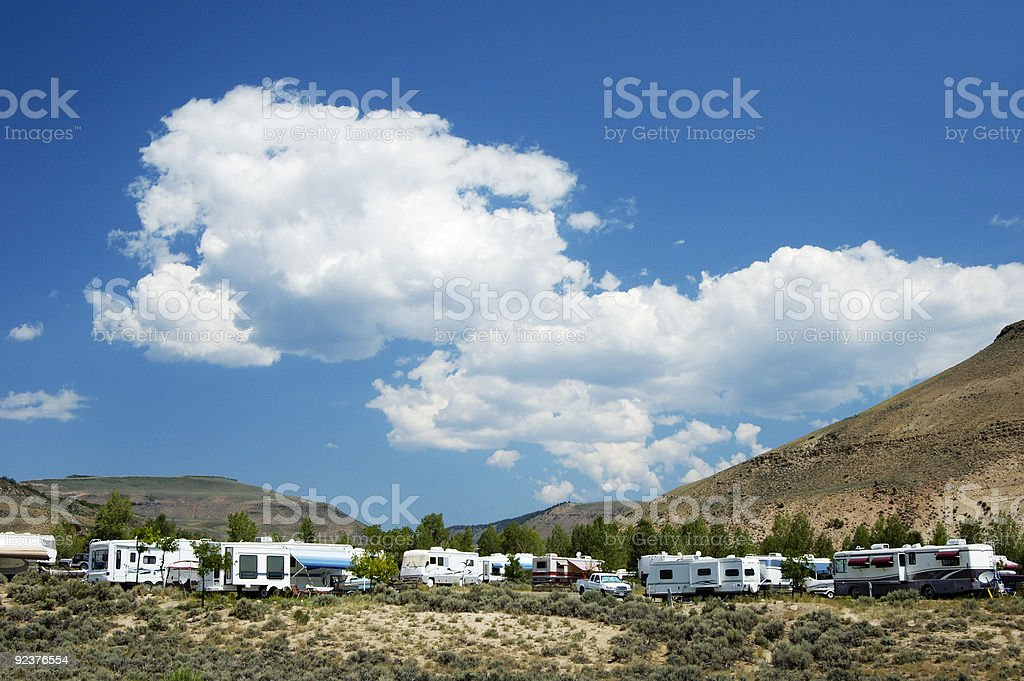 Mountain Campground 1 royalty-free stock photo