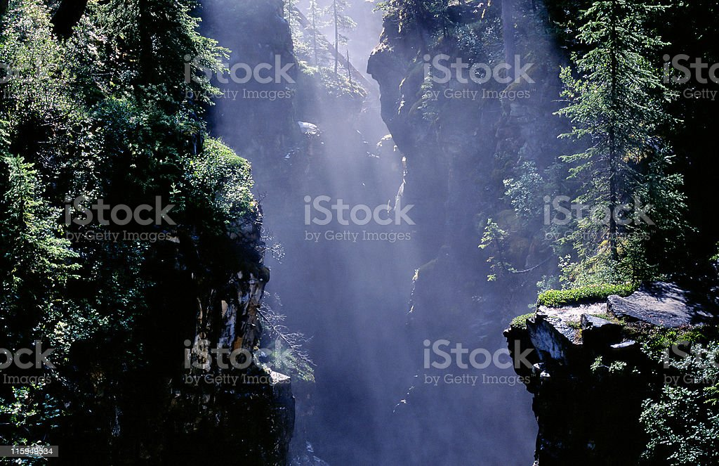 Mountain canyon royalty-free stock photo