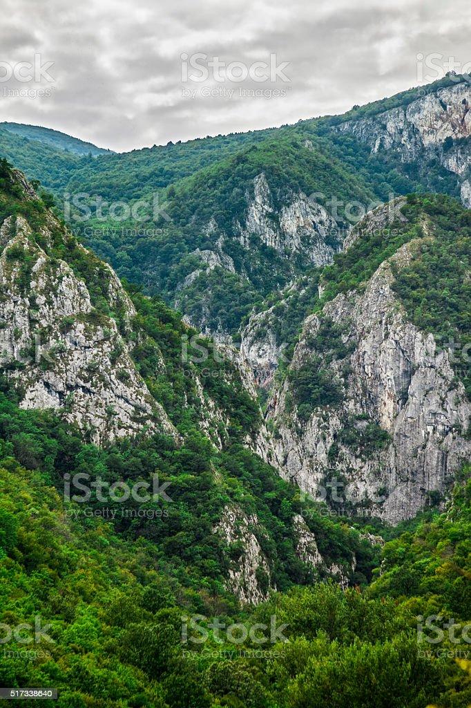 Mountain canyon stock photo