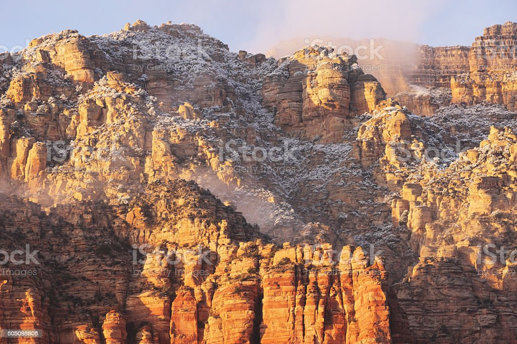 Mountain Canyon Red Rock Mist stock photo