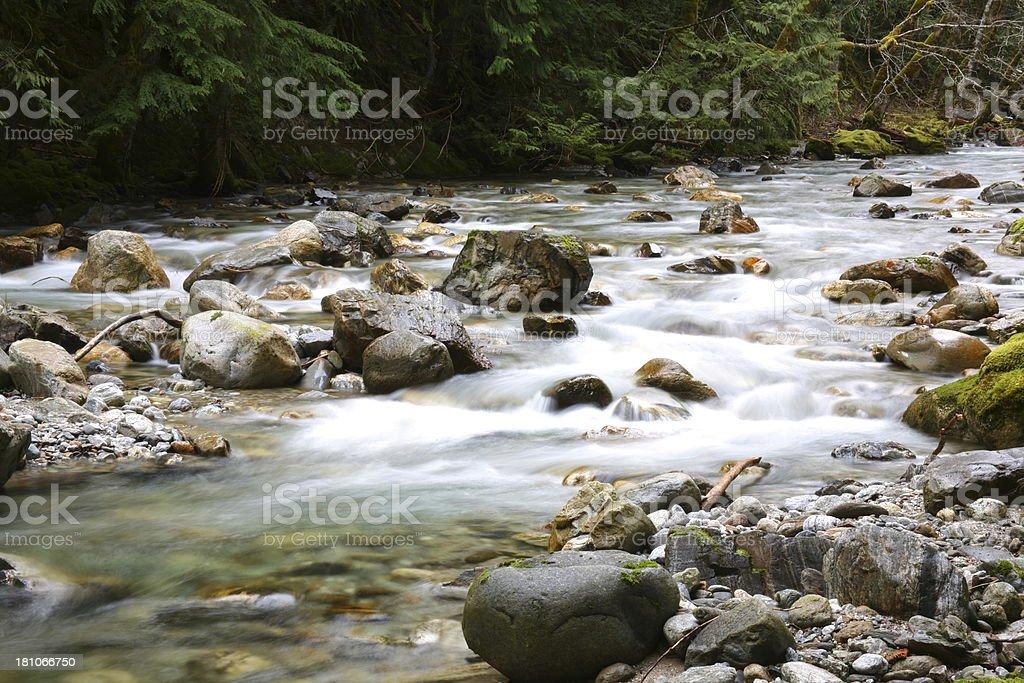 Mountain Cascade - North Cascades National Park, Washington, USA royalty-free stock photo