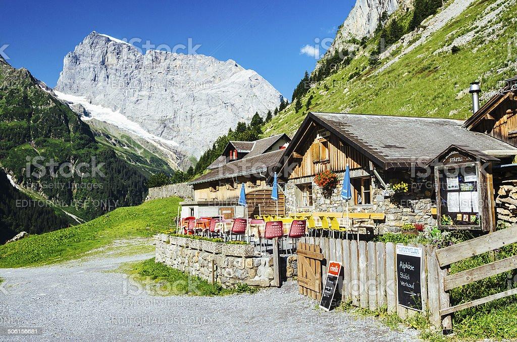 Mountain chalet near Engelberg Switzerland stock photo