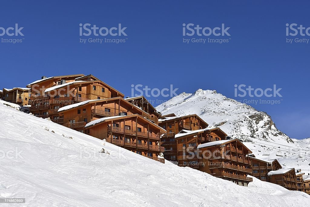 Mountain Chalet stock photo