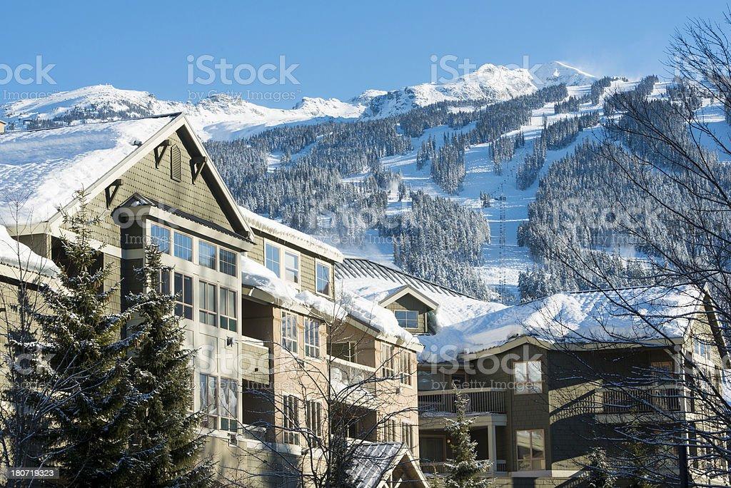 Mountain Chalet stock photo