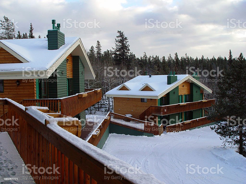 Mountain chalets royalty-free stock photo