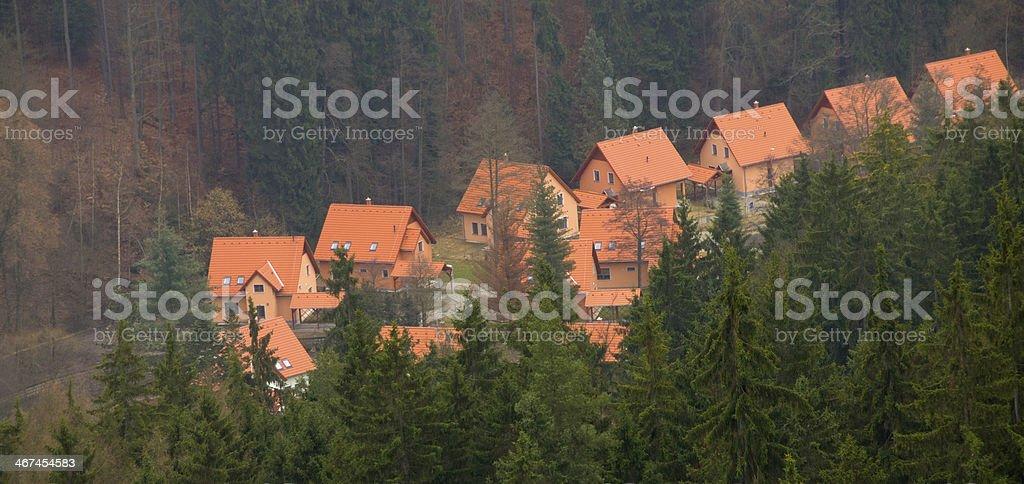 Mountain Chalets royalty-free stock photo