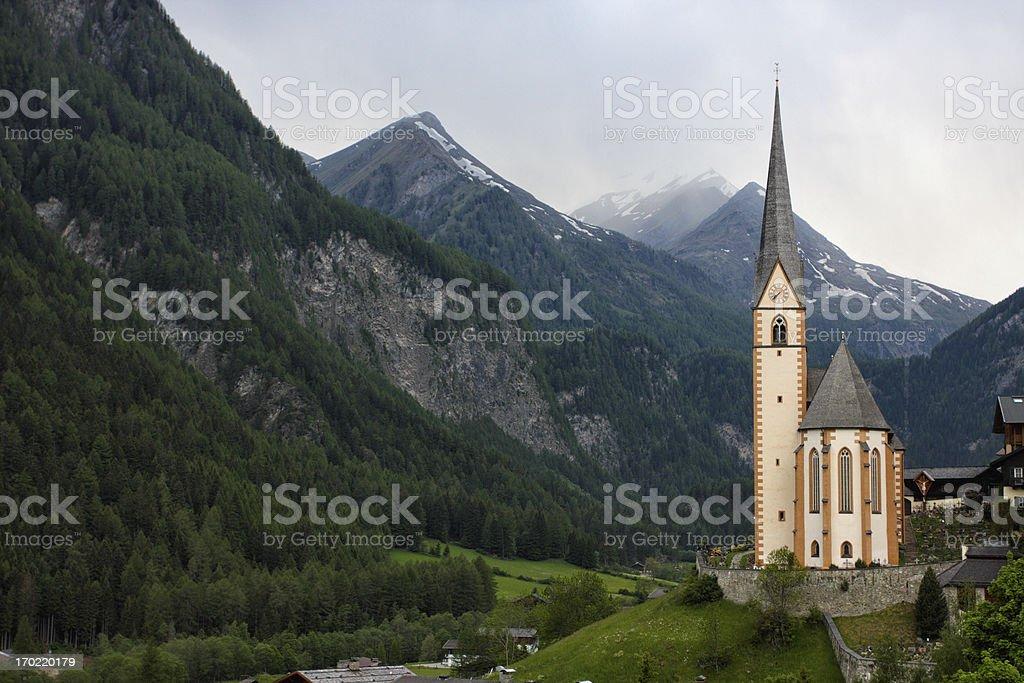 mountain church royalty-free stock photo