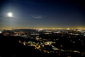 Mountain city by night