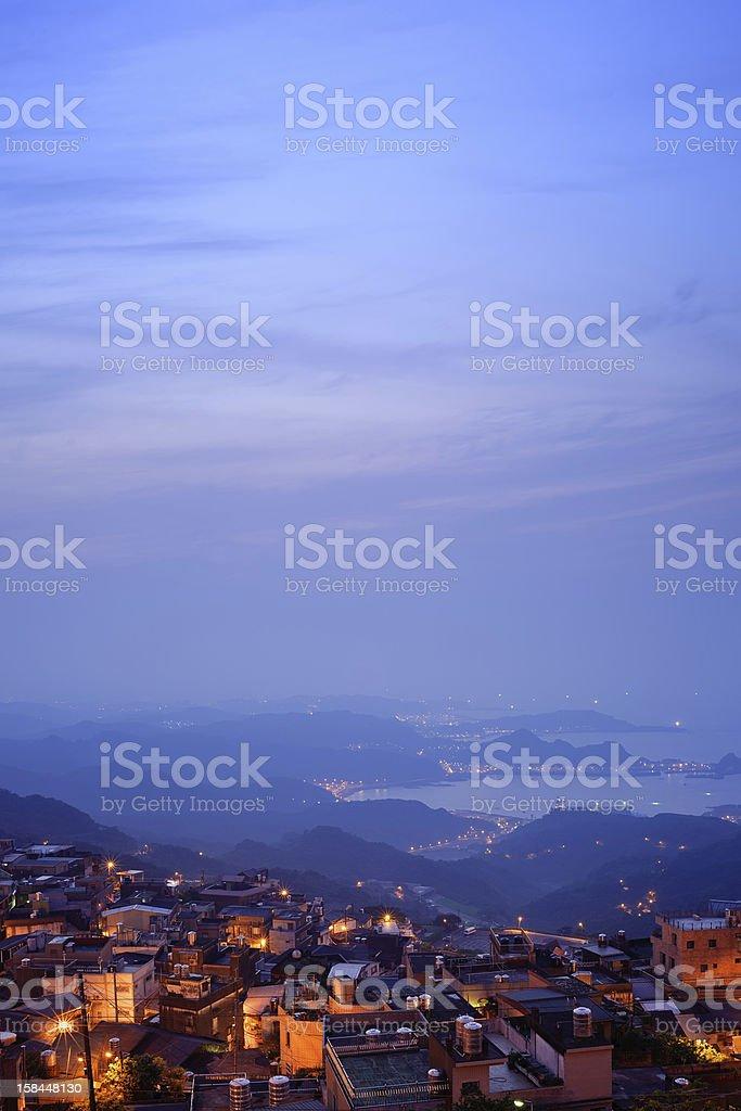 Mountain city stock photo