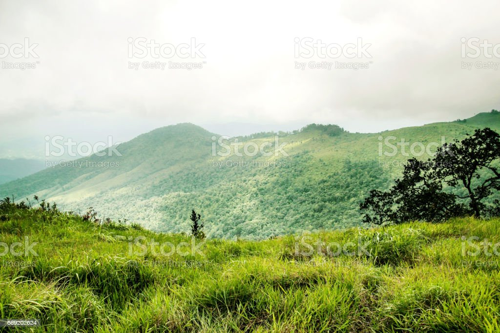 Mountain cliff hill landscape stock photo