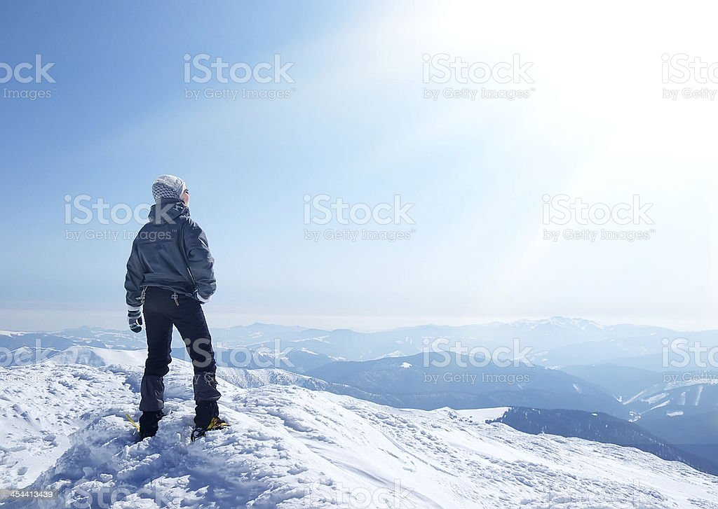 Mountain climber royalty-free stock photo