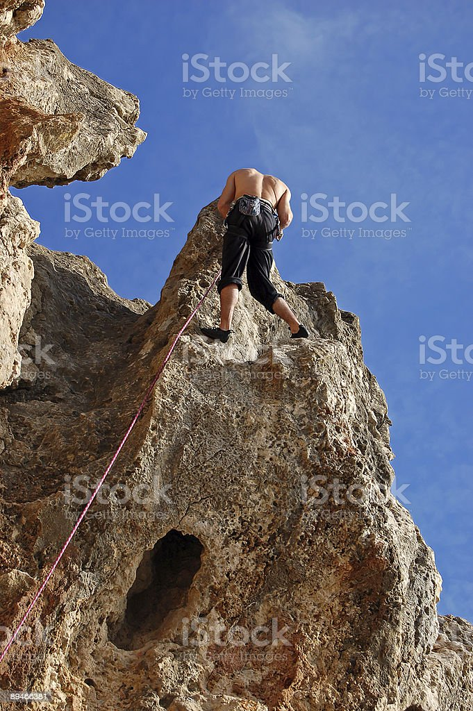 Mountain climbing at Guia royalty-free stock photo
