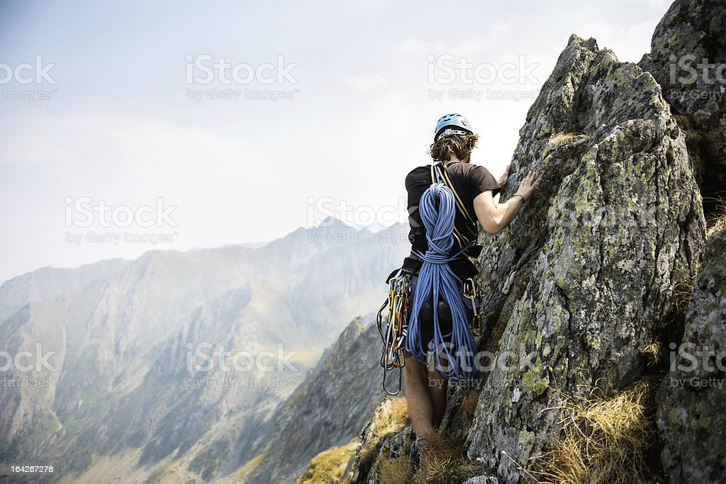 mountain climbing royalty-free stock photo