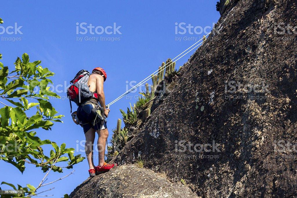 Mountain climbing royalty-free stock photo