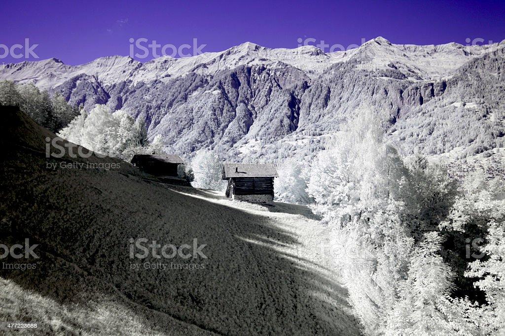 Mountain close to Brienz stock photo