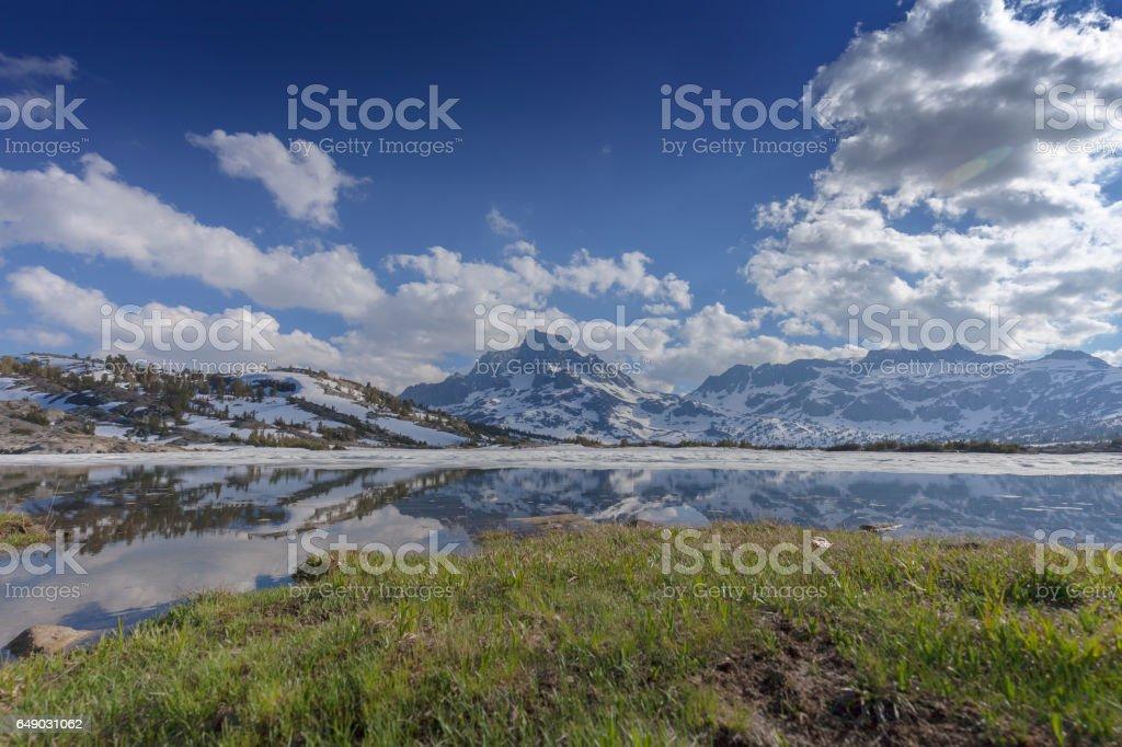 Mountain Cloud Lake stock photo