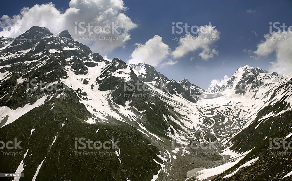 Mountain, Clouds - Malika Parbat, Pakistan royalty-free stock photo