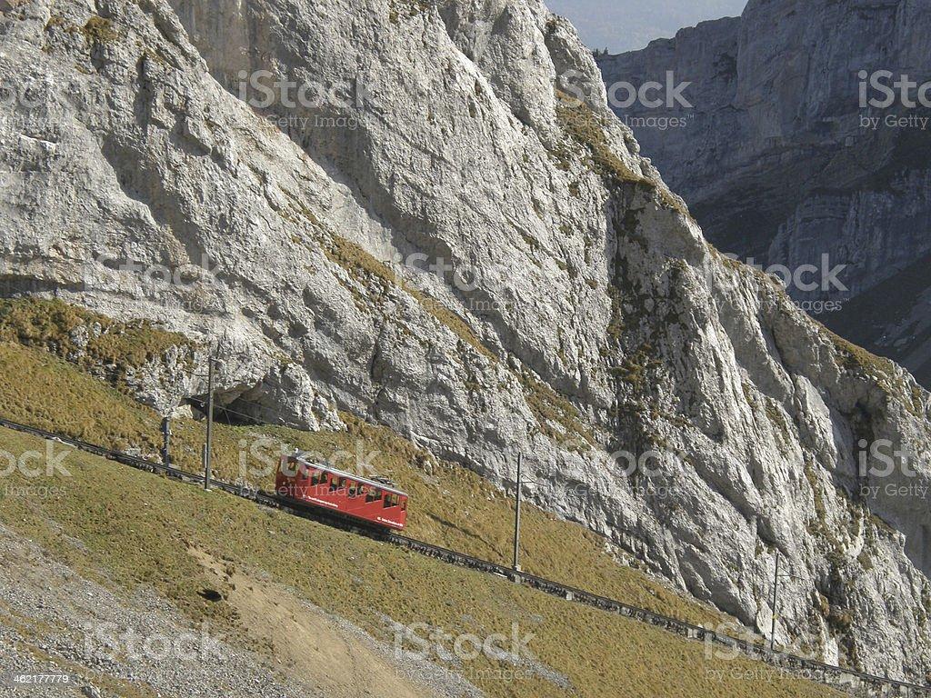 Mountain cogged railway stock photo
