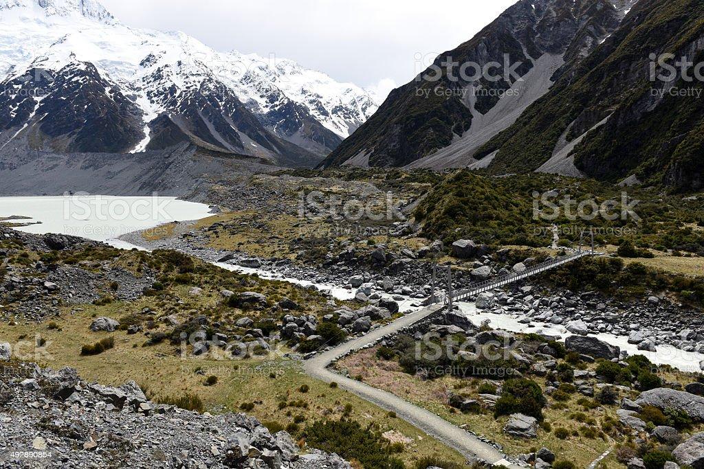 Mountain Cook New Zealand stock photo