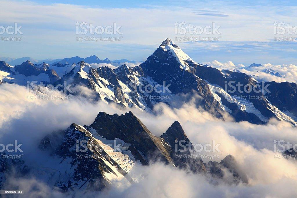 Mountain Cook Peak stock photo