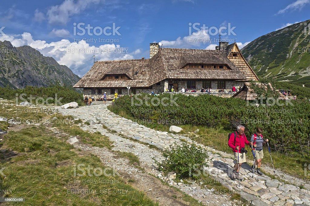 Mountain Cottage in the Tatra mountains royalty-free stock photo