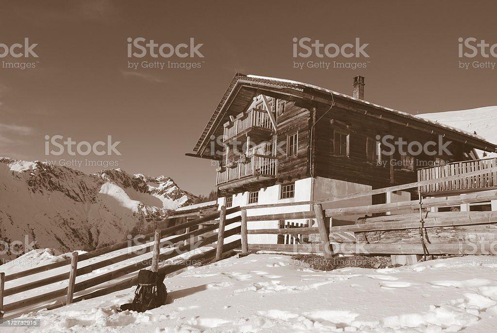 Mountain cottage royalty-free stock photo