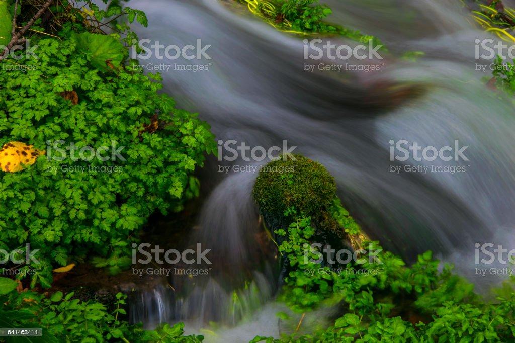 Mountain creek cascades stock photo