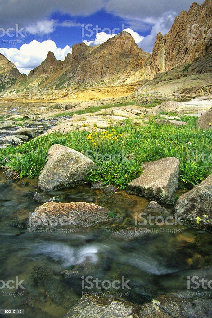 mountain creek landscape stock photo