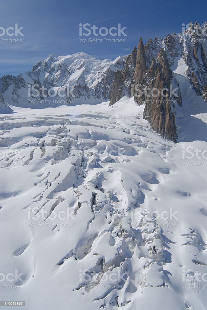 Mountain Crevasses royalty-free stock photo