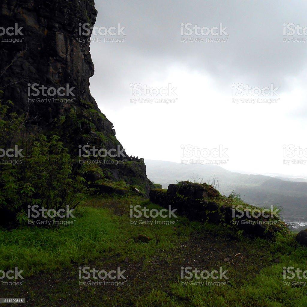 mountain curve stock photo
