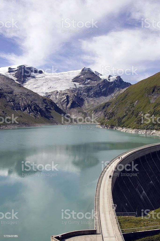 mountain dam royalty-free stock photo