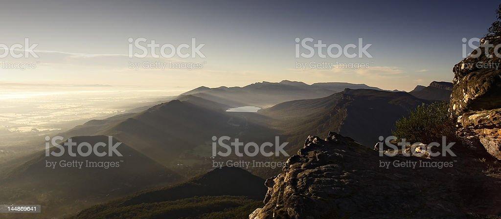 mountain dawn stock photo