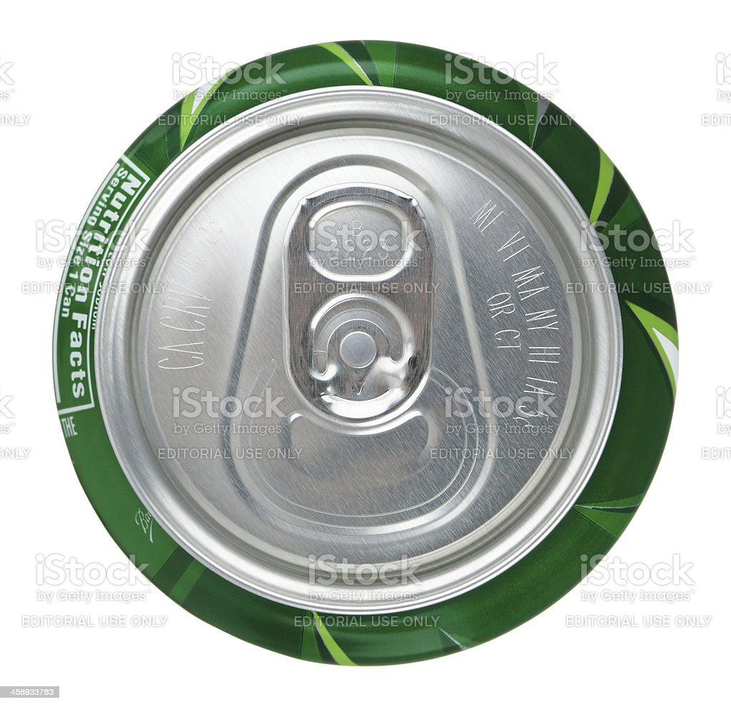 Mountain Dew Can Top stock photo