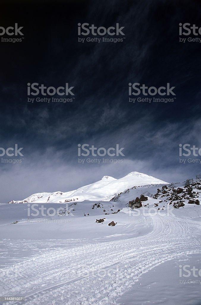 Mountain Elbrus Peaks royalty-free stock photo
