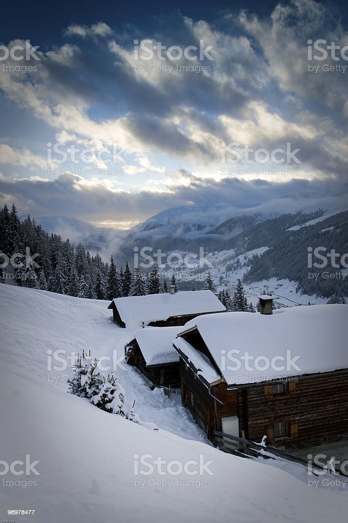 Mountain Evening stock photo