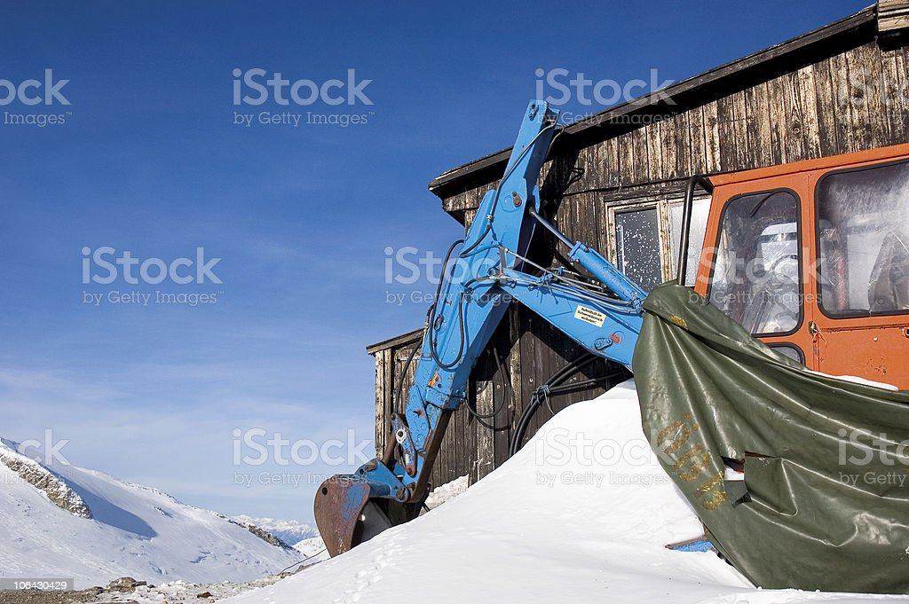 Mountain excavator stock photo