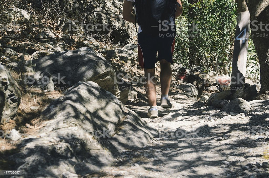 Mountain excursion royalty-free stock photo