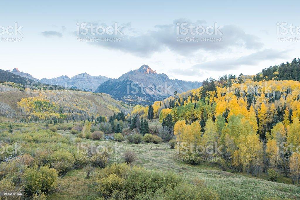 mountain fall stock photo