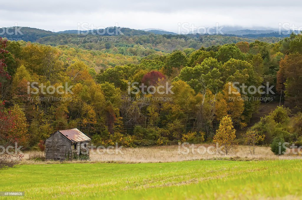 mountain farm land in virginia mountains royalty-free stock photo