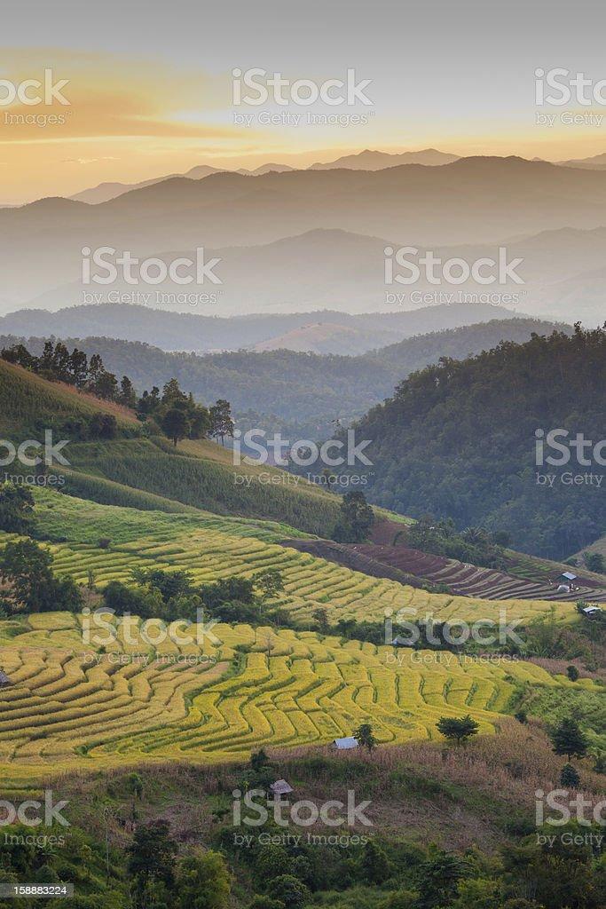 Mountain Farm royalty-free stock photo