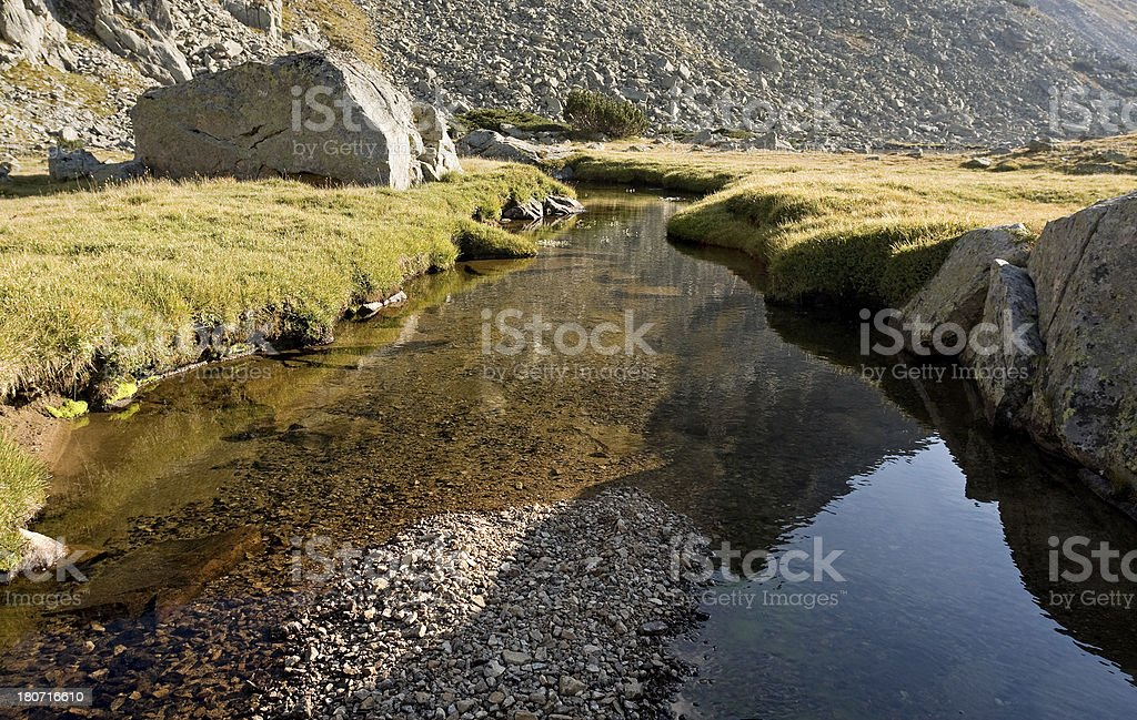 Mountain flow royalty-free stock photo