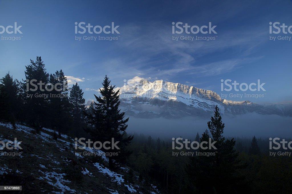 Mountain Fog royalty-free stock photo