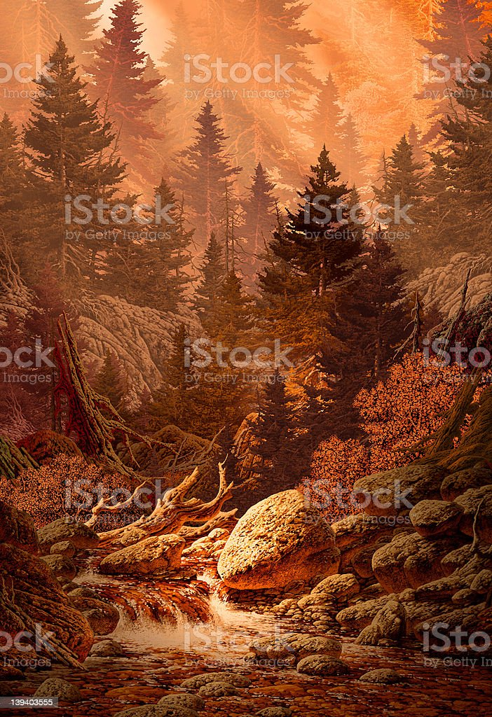 Mountain Forest Stream royalty-free stock photo
