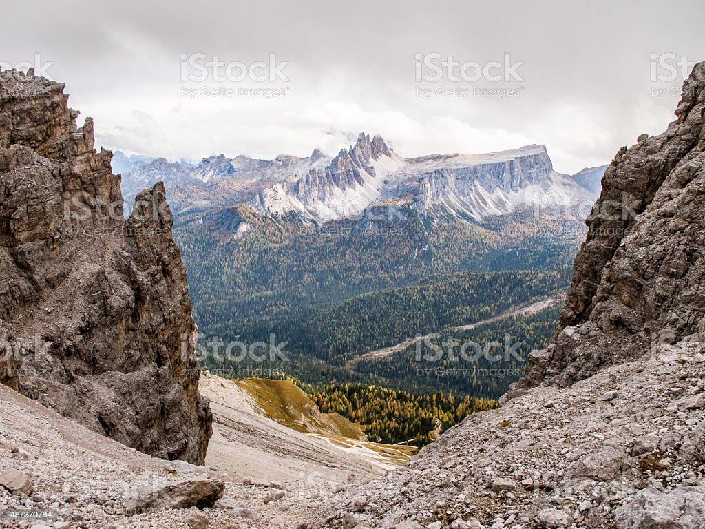 Mountain Framed stock photo