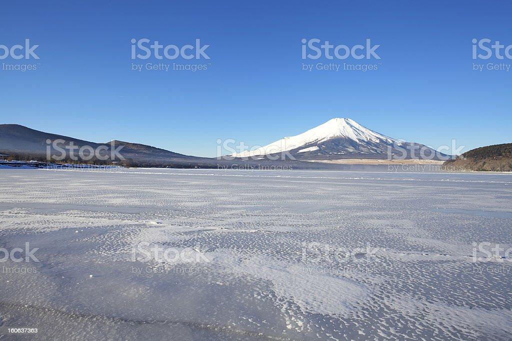 Mountain Fuji in winter royalty-free stock photo